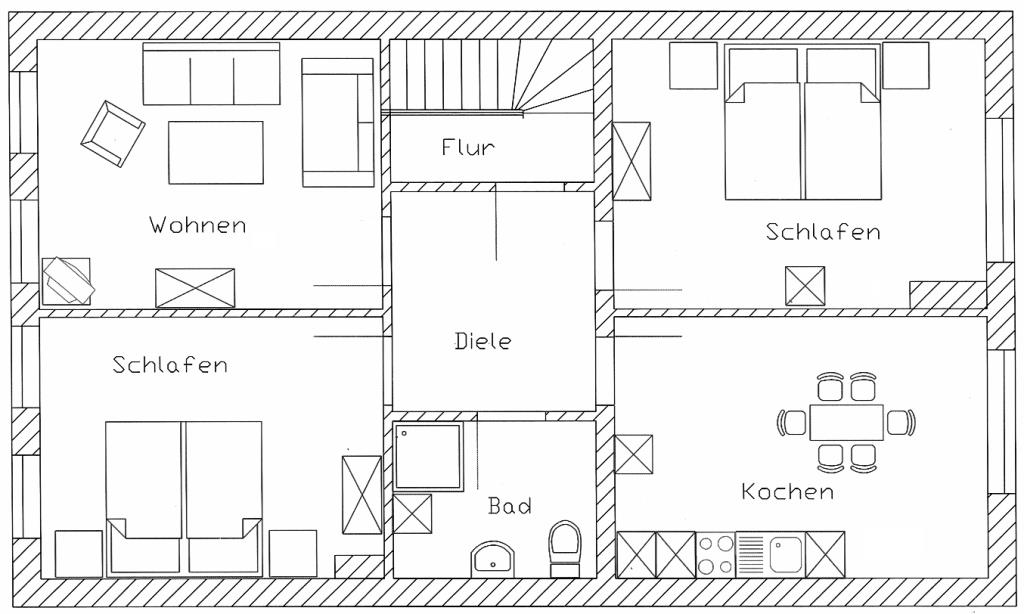 Grundriss Apartment 1